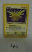 Zapdos Holo Rare Fossil Set Pokemon Card 15/62 listing # 44  possible error