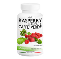 RASPBERRY Ketone&CAFFE' Verde/Double Action! Perdita Peso Dieta FAT BURNER 60CPR