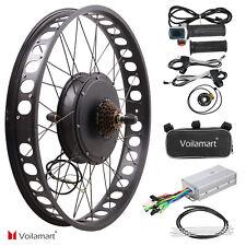 "26"" 1000W 48V Electric Bike Fat Tire Rear Wheel Bicycle Conversion Kit Hub Motor"