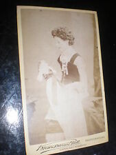 Cdv old photograph girl costume doll Brown Barnes Bell c1870s Ref 513(2)