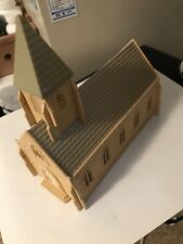 VINTAGE PLASTICVILLE CHURCH ASSEMBLED ,O & S SCALE