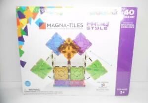 Magna Tiles Freestyle Set, The Original 3D Magnetic Building Tiles (40 Pieces)