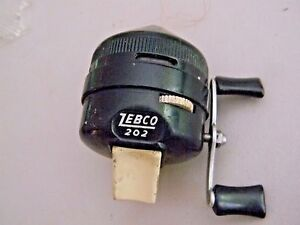 Zebco 202- Spincast Reel- Plastic Body- Vintage- Black