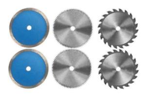 Set 6 lame HM Ø 85 mm x Ø 10 mm per mini sega circolare - Einhell per BT-CS 860