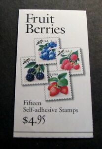 US Booklet Stamp Scott# BK276A  Fruit Berries 1999  MNH L128