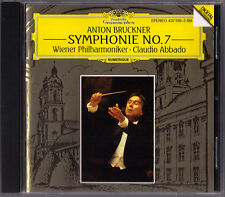 Claudio ABBADO: BRUCKNER Symphony No.7 Wiener Philharmoniker DG 1994 CD Sinfonie