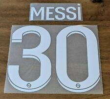 Patch Flocage #30 MESSI PSG - Sponsor Ooredoo Blanc Maillot porté Domicile