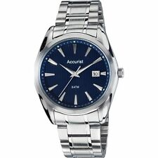 Accurist Stainless Steel Case Watches with Date Indicator