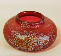 Loetz or Kralik Iridescent Art Glass Paperweight Inkwell Vase.