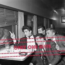 "ELVIS PRESLEY on ""Hollywood"" Bound Train April 1960 8x10 Photo MEMPHIS MAFIA"