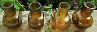 4 EARLY HAND MADE  ANTIQUE 4 OUNCE  SIZE BULBOUS MEAT EXTRACT  BOVRIL JARS