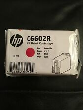 New Genuine HP C6602R Red Ink Cartridge Sealed ~ 2-Pack ~ Good to 7/21
