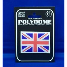 Union Jack Rectangle Polydome Sticker - Great Britain Gb Uk Flag Self Adhesive