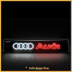 LED Anteriore AUDI scritta logo Griglia badge stemma A1 A2 A3 A4 A5 A6 Q2 Q3 Q5