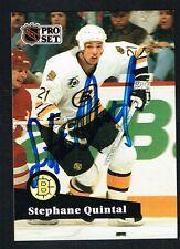 Stephane Quintal #350 signed autograph auto 1991-92 Pro Set Hockey Trading Card