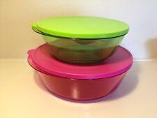 New Tupperware Luxury Acrylic Sheerly Bowls Set 2L & 3.5L