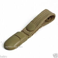 Tan Tactical Hydration Pack Drink Tube Lanyard clip.. A-TACS, Multicam, Camelbak