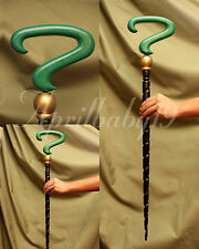 RIDDLER CANE Green Black SPIRAL Question Mark Costume Prop Cosplay Comic Con