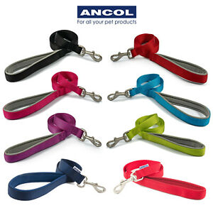 Ancol Dog Lead Nylon Padded Handle Leash Puppy Soft Durable Strong All Sizes