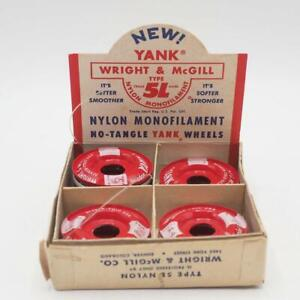Vintage Wright McGill Yank Fly Leaders In Store Display Box NOS