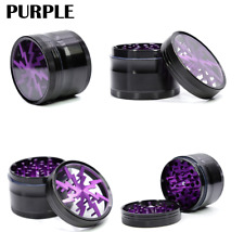 Purple 4 layers Aluminium alloy Lightning Smoke Tobacco Spices Herb Grinder