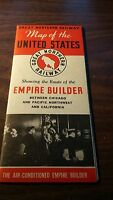1941 GREAT NORTHERN EMPIRE BUILDER MAP OF THE UNITED STATES
