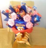 CHOCOLATE ORANGE GIFT BOUQUET UNIQUE GIFT BIRTHDAYS, VALENTINES, MOTHERS DAY