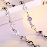 Silber Romantisches Bettelarmband Kristall Zirkon Kettenarmband für Frauen