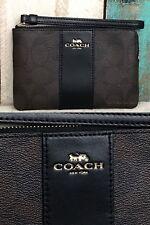 NWT Coach F58035 Signature PVC Leather Corner Zip Wristlet/Small Purse