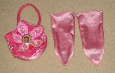 Disney Fairies ROSETTA Fairy Satin Pink Purse & Gloves Tinkerbell & Friends