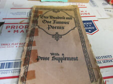 [DF] antique book, one hundred and one famous poems with prose supplement