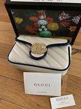 Gucci Women's Leather Marmont Super Mini Shoulder Bag - White