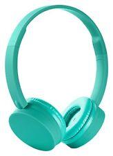 Auriculares verdes de audio portátil con conexión Bluetooth