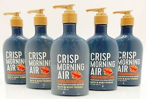 5 BATH &BODY WORKS CRISP MORNING AIR NOURISHING HAND SOAP WITH SHEA EXTRACT 8oz