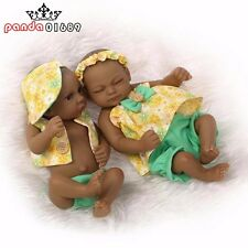 11in Black Realistic Silicone Reborn Baby Beautiful Girl&boy Baby Doll(one doll)