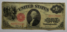 1917 $1 Sawhorse Large Size Legal Tender Note Fine