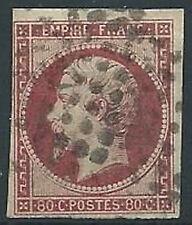 1853-60 FRANCIA USATO NAPOLEONE III 80 CENT - EDF164