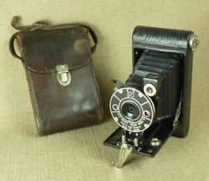 "1920's KODAK ""VEST POCKET, MODEL B"" Autographic Miniature FOLDING CAMERA & Case"