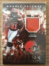 2018 Panini Origins Nick Chubb Rookie Patches Relic Base Cleveland Browns