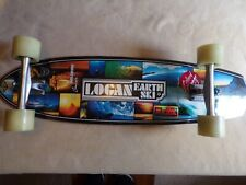 Logan Earth Ski/Gravity longboard cruiser, Gullwing Trucks, Blood Orange wheels