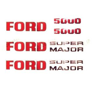 DECAL SET FOR FORD 5000 PRE FORCE TRACTORS.