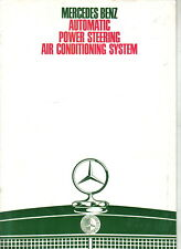 Mercedes Benz Automatic Power Steering Air Conditioning 1969-70 UK Brochure