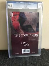 Civil War: The Confession #1 Cgc 9.8 Captain America Comic