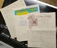 1930 274) LOTTO FATTURE COMMERCIALI DITTE BELLUNo E ACQUA DI VENA D'ORO (BL)