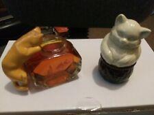 New listing Two Avon cat perfume bottles.