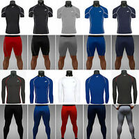 Men's Tights Tops Thermal Base Layer Activewear Compression Tee Shirts Bottoms