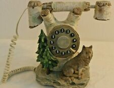 Vintage Collections ETC Wolf Telephone Collectible Land Line WORKS!