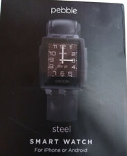 Pebble Steel Smartwatch Black Matte For iPhone Or Android 401BLR