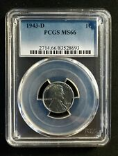 1943-D Lincoln Wartime Steel Cent PCGS MS 66