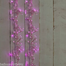 280 LUCE NATALE 4,45 m Rosa LED cluster Indoor Outdoor Luci Decorazione